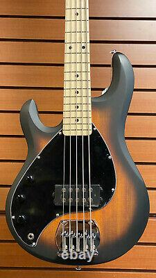 Sterling by Music Man StingRay Ray5LH Left-Handed 5-String Bass Vintage Sunburst