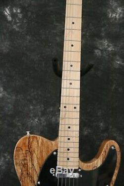 TL Electric Guitar Ash Top Veneer Maple Neck Fixed String Thru Body No Logo