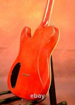 TL Electric Guitar Quilt Maple Top String Thru Body Set In Fixed Cherry