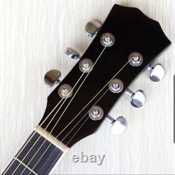 Thin body acoustic-electric guitar beginner guitar with free gig bag free string