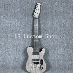Top Quality 7/8 Strings TL Electric Guitar ASH Body Stain Finish Daddriao String