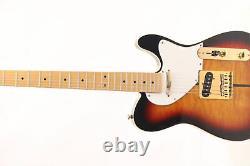 Tuff Dog TL Electric Guitar Quilted Maple Top Veneer Strings Thru Body Sunburst