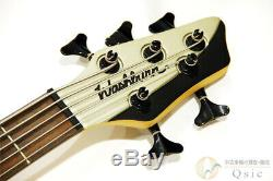 Used Washburn BB5 Electric Bass 5 String Active PU Rose FB WithGB Free Shipping