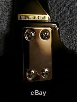 Vintage 2000s Epiphone Mandobird VIII 8-string solid body mandolin lipstick