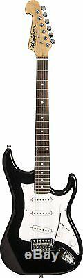 Washburn 6 String Solid-Body Electric Guitar, Black Gloss (S1B-A)